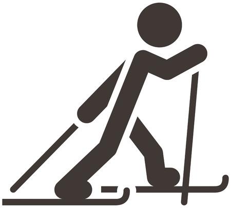 冬スポーツのアイコンを設定 - クロスカントリー スキー アイコン