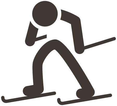 crosscountry: Winter sport icon set - Cross-country skiing icon
