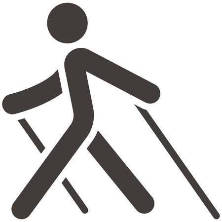 Health en Fitness icons set - Nordic Walking pictogram