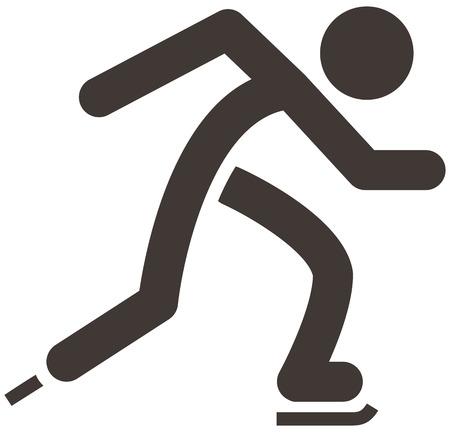winter sport: Winter sport icon set - Skate icon