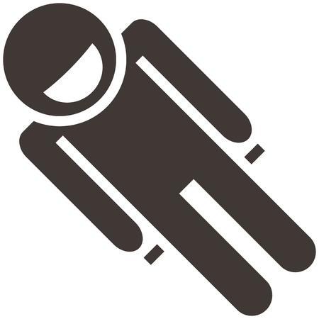 toboggan: Winter sport icon set - toboggan icon