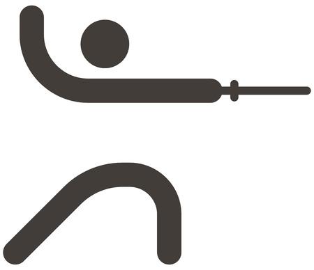 fencing: Summer sports icon set - fencing icon