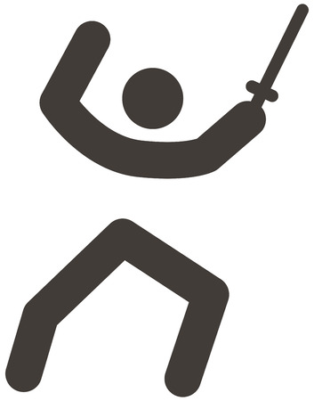 duel: Summer sports icon set - fencing icon