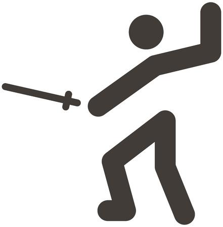 fencing sword: Summer sports icon set - fencing icon