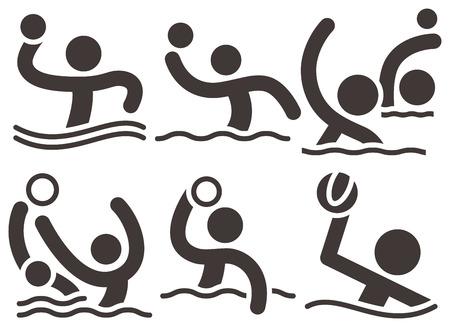 waterpolo: Verano iconos deportivos - iconos del water polo