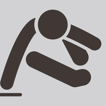 parkour: Extreme sports icon set - parkour. Icon are optimized for size 32x32 pixels Illustration