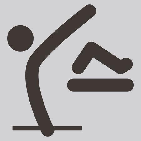 parkour: Extreme sports icon set - parkour icon are optimized for size 32x32 pixels Illustration