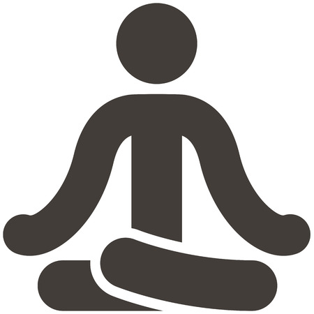 Health and Fitness icons set - yoga icon  イラスト・ベクター素材