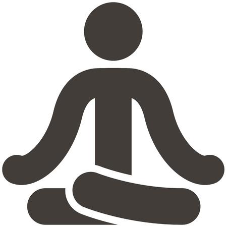 icono deportes: Salud y estado físico iconos conjunto - icono de yoga Vectores