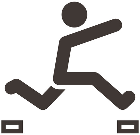 optimized: Extreme sports icon set - parkour icon are optimized for size 32x32 pixels Illustration