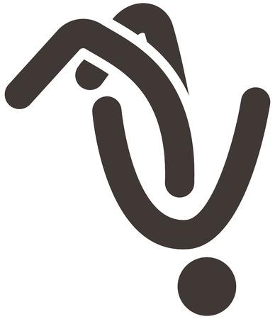 parkour: Los deportes extremos conjunto de iconos - icono de parkour