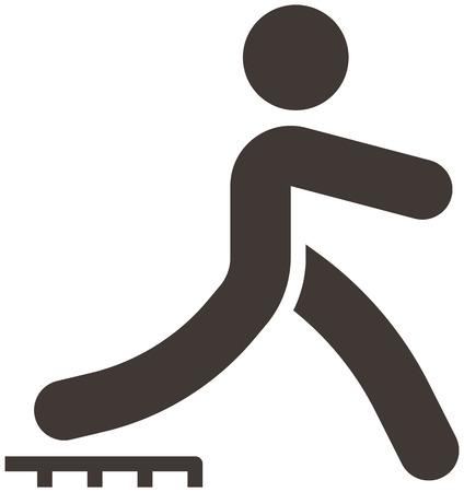 parkour: Los deportes extremos conjunto de iconos - icono de parkour se optimizado