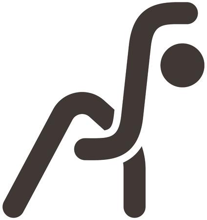 optimized: Health and Fitness icons set - aerobics icon optimized Illustration
