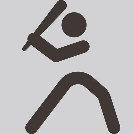 team sports: Iconos de los deportes de verano conjunto - icono del béisbol