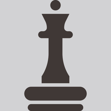 chess queen: Chess icon - chess queen