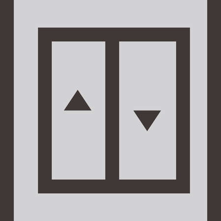 an elevator: Elevator - up - down icon
