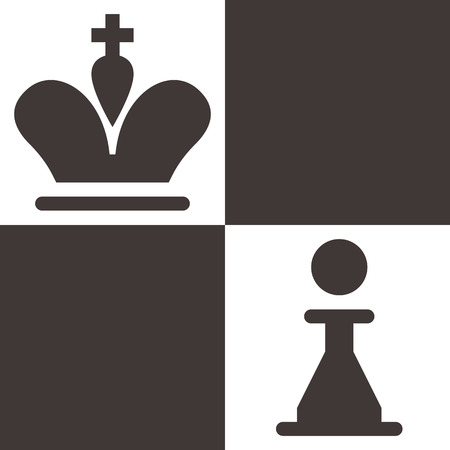 king master: Chess icon - chess king and pawn