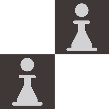 chess board: Chess icon - chess board with pawn