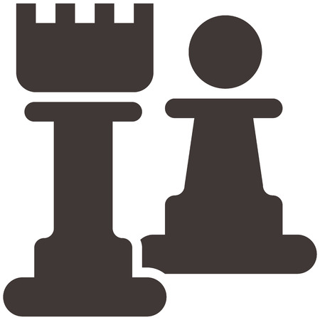 Chess icon - chess pawn and castle