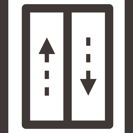 an elevator: Elevator down icon