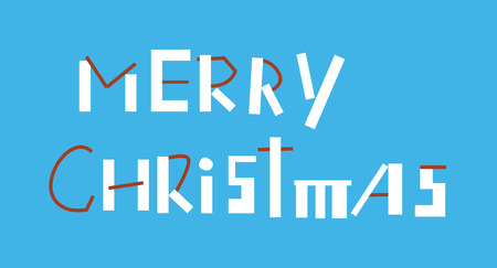 marry: Marry Christmas Inscription Illustration