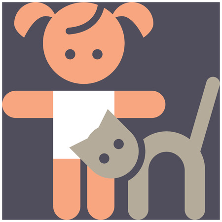 petting zoo: Kids activities color icon