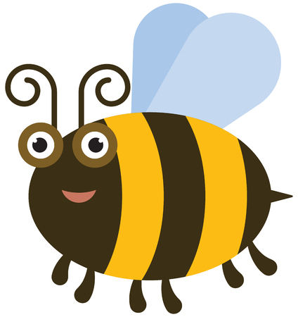 stinger: Funny bee - color illustration icon Illustration