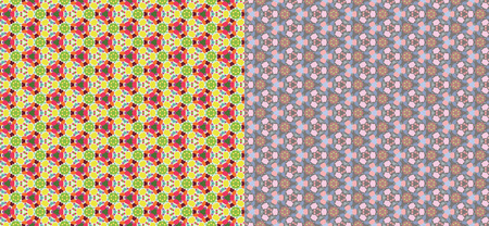 backgrounds: Color kaleidoscope backgrounds set