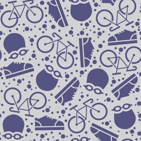 Summer sports background -  triathlon seamless