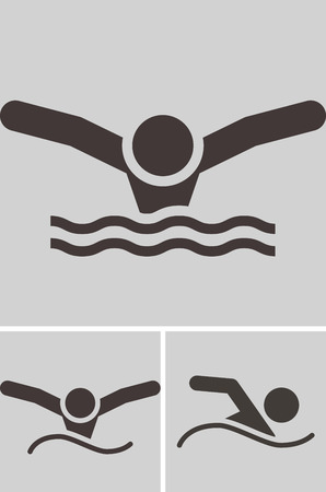 Summer sports icons - swimming icon