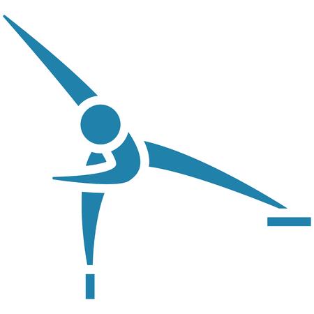 Winter sport icon skating icon. Illustration