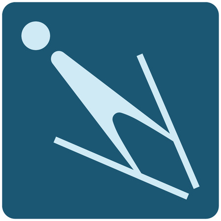 Winter sport icons - ski jumping icon