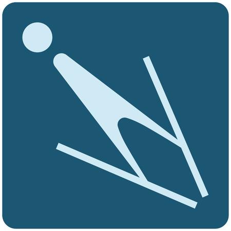 Winter sport icons - ski jumping icon
