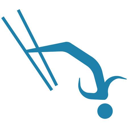 Winter sport icon - freestyle icon