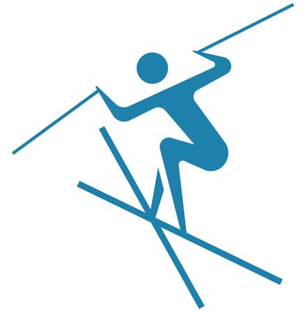Winter sport icon - freestyle Illustration