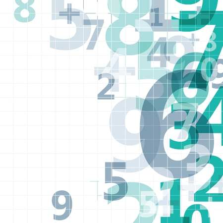 Mathematical digital code background, abstract vector illustration of numbers Illustration