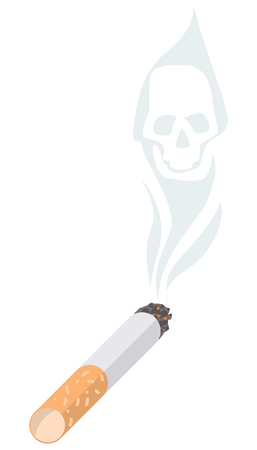 Cigarette. The illustration propagandizing refusal of smoking. Иллюстрация