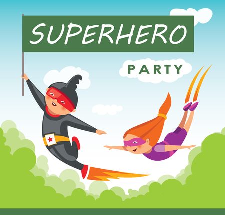 Superhero party background for invitation card Stock Vector - 108102175