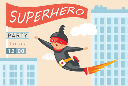 Superhero party background for invitation card Stock Vector - 108102180