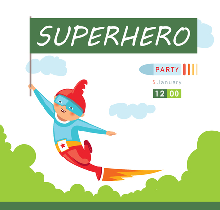 Superhero party background for invitation card Stock Vector - 108102184