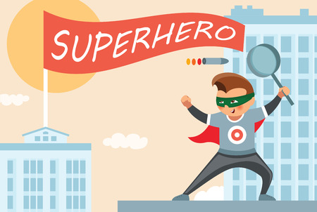 Superhero party background for invitation card Stock Vector - 108102190
