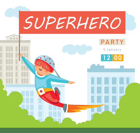 Superhero party background for invitation card Stock Vector - 108064806