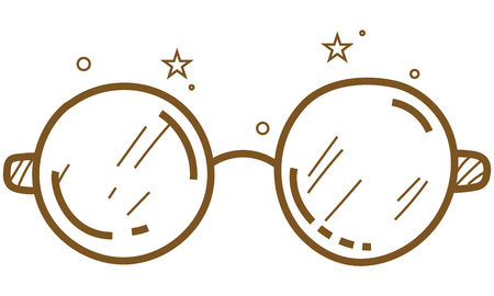 Magic Glasses - vector icon  in pencil drawing style Banco de Imagens - 109993700