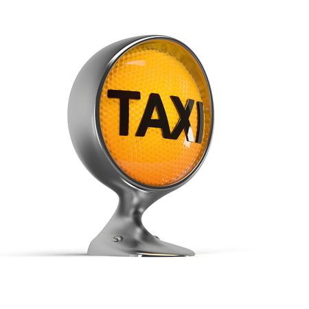 headlight: illuminated taxi sign on a vintage headlight