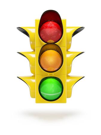 colour image: traffic light  isolated on white background