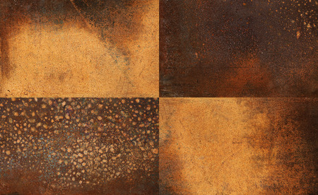 orange texture: set of rusty metal Stock Photo