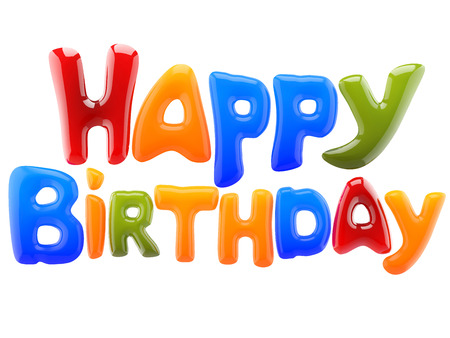 happy birthday text: happy birthday sign Stock Photo