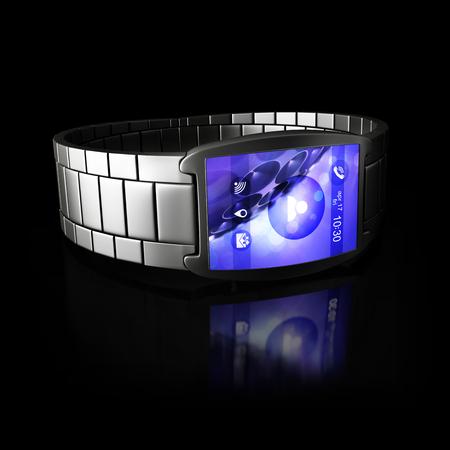 smart: smart watch on black background