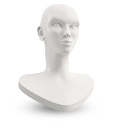 mannequin head: white female mannequin head for makeup lesson