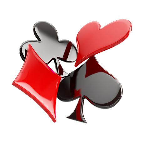 flying poker card symbols